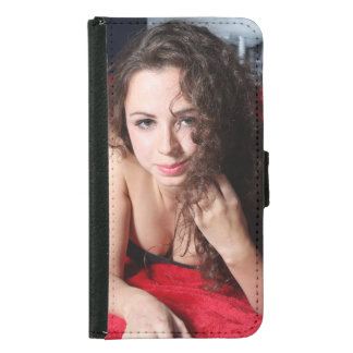 Beautiful Woman Samsung Galaxy S5 Wallet Case