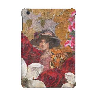 Beautiful Woman Tiger Rose Garden iPad Mini Retina Case