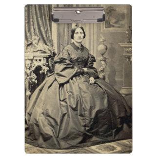Beautiful Woman Vintage Albumen CDV Photo 1860's Clipboards