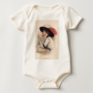 Beautiful Woman Voting - Vintage Suffrage Fashion Baby Bodysuit