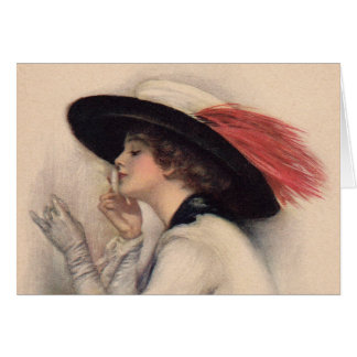 Beautiful Woman Voting - Vintage Suffrage Fashion Card