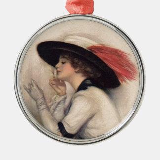 Beautiful Woman Voting - Vintage Suffrage Fashion Metal Ornament