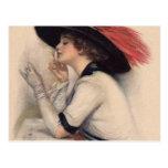 Beautiful Woman Voting - Vintage Suffrage Fashion Postcard