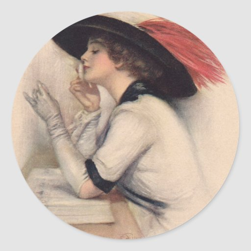 Beautiful Woman Voting - Vintage Suffrage Fashion Stickers