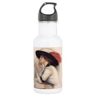 Beautiful Woman Voting - Vintage Suffrage Fashion Water Bottle