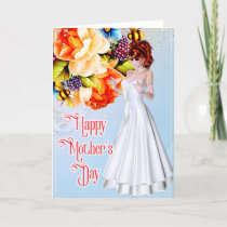 Beautiful Woman with Peonies - Mother's Day Card