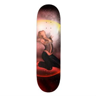 Beautiful women in a bubble skate board decks