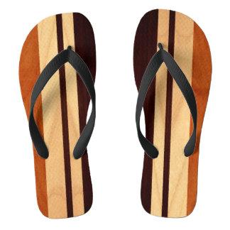 Beautiful Wood Stripes Wood Grain Pattern Flip Flops