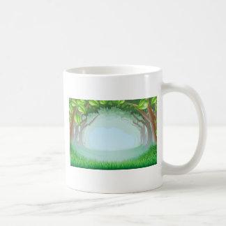 Beautiful woodland scene classic white coffee mug