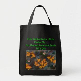 Beautiful World Grocery Tote Bag