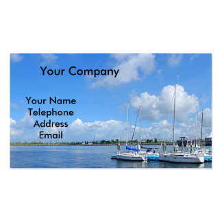 Beautiful Yacht Harbor with Boats Double-Sided Standard Business Cards (Pack Of 100)