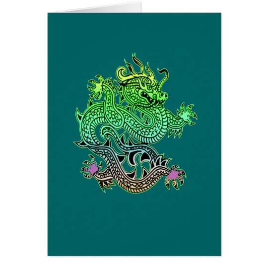 Beautiful Year of the Dragon Gifts Card