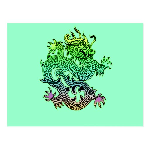 Beautiful Year of the Dragon Gifts Post Card
