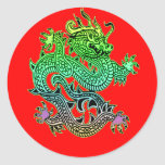 Beautiful Year of the Dragon Gifts Round Stickers