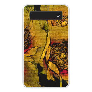 Beautiful Yellow Abstract Flowers Power Bank