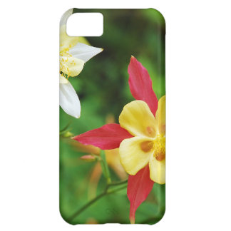 Beautiful yellow and red columbine flower print cover for iPhone 5C