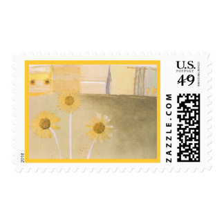 Beautiful Yellow and White Abstract Daisies Postag Postage