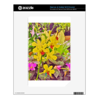 Beautiful Yellow autumn orchids Skins For The NOOK Color