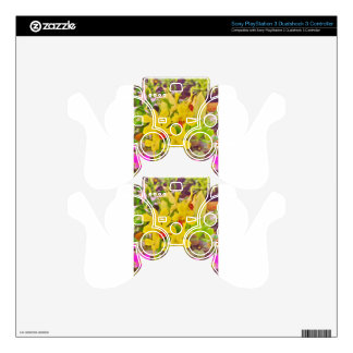 Beautiful Yellow autumn orchids Decal For PS3 Controller