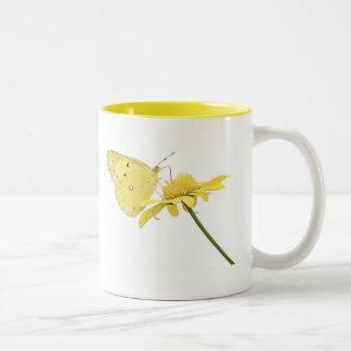 Beautiful Yellow Butterfly Coffee Mugs