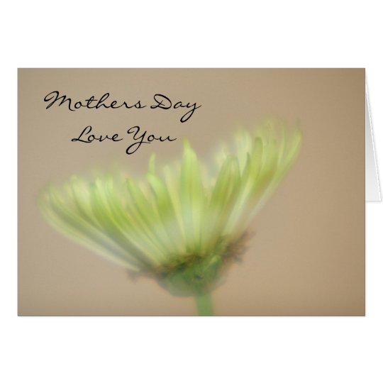 Beautiful Yellow Chrysanthemum Flower Mothers Day Card