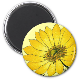 Beautiful Yellow flower 2 Inch Round Magnet