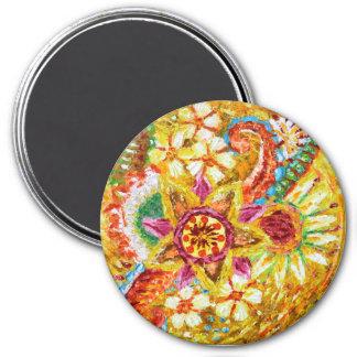 Beautiful Yellow Flower 7.6cm Round Magnet