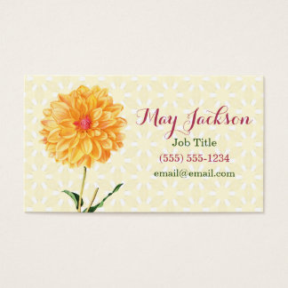 Beautiful Yellow Flower Business Card