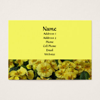 Beautiful yellow flowers business card