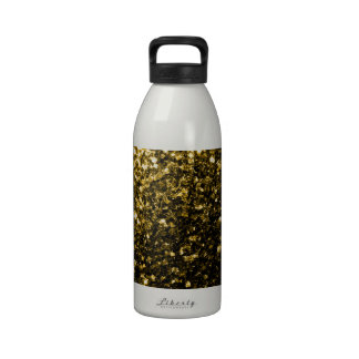 Beautiful Yellow Gold sparkles Water Bottle