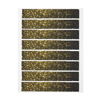 Beautiful Yellow Gold sparkles Wraparound Address Label