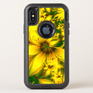 Beautiful Yellow-Green Meadow of Daffodil Flowers OtterBox Defender iPhone X Case