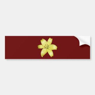 Beautiful yellow lily bumper sticker