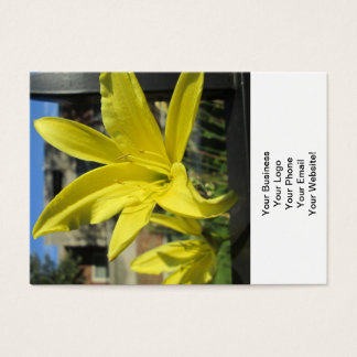 Beautiful Yellow Lily Business Card