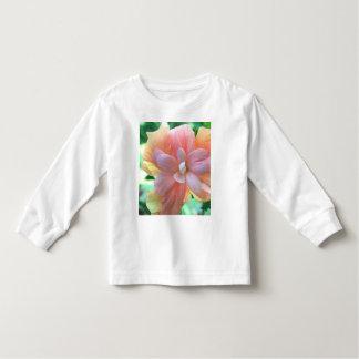 Beautiful Yellow, Orange & Pink Hibiscus Flower Toddler T-shirt