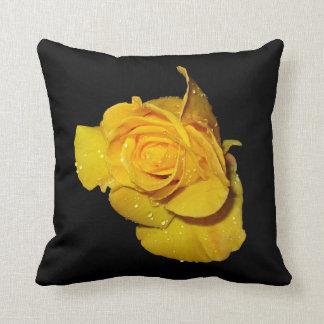 Beautiful Yellow Rose American MoJo Pillows
