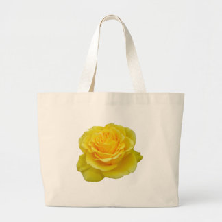 Beautiful Yellow Rose Closeup Isolated Bags