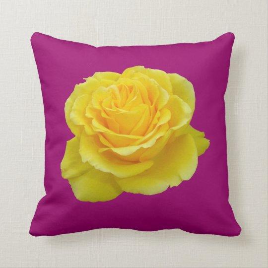 Beautiful Yellow Rose Closeup Isolated Throw Pillow