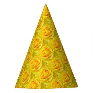 Beautiful Yellow Rose Closeup Party Hat