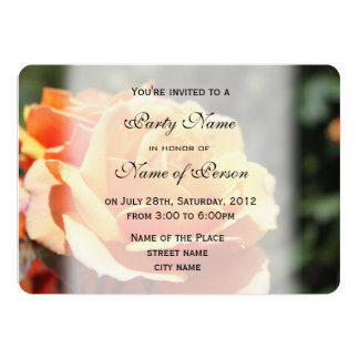 Beautiful yellow rose flower all party invitations