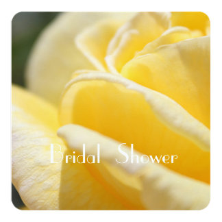 beautiful yellow rose flower picture bridal shower card