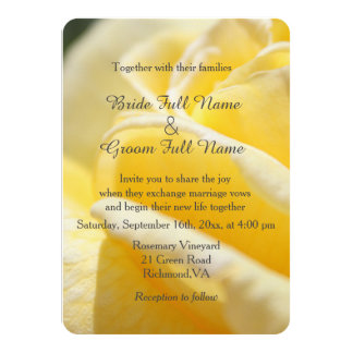 beautiful yellow rose flower picture wedding card