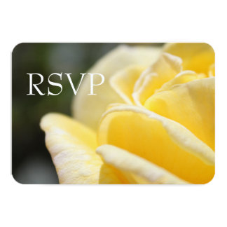 beautiful yellow rose flower picture wedding RSVP Card