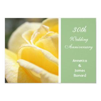 Beautiful yellow rose flower wedding anniversary card