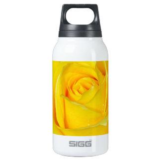 Beautiful yellow rose petals 10 oz insulated SIGG thermos water bottle