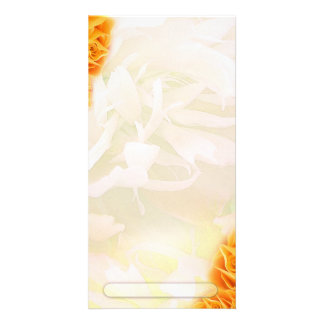 Beautiful Yellow roses and light green floral Card