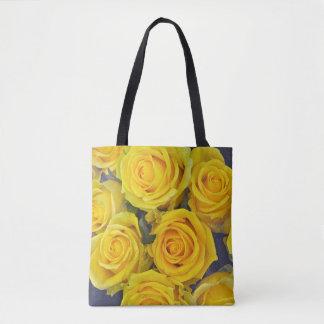 Beautiful yellow roses tote bag