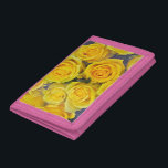 """Beautiful yellow roses tri-fold wallet<br><div class=""""desc"""">Beautiful yellow roses floral print wallet</div>"""
