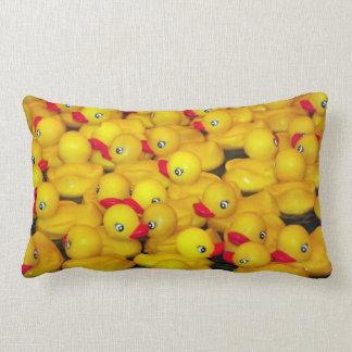 Beautiful yellow rubber ducky pillow