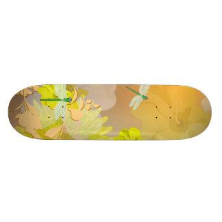 Beautiful yellow skateboard